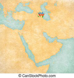 Map of Middle East - Azerbaijan