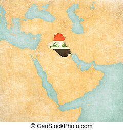 Map of Middle East - Iraq