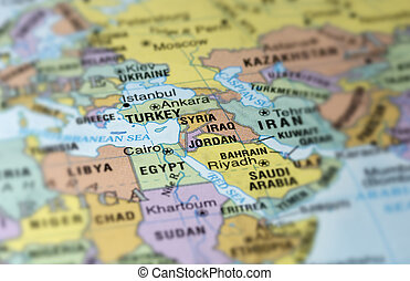 Middle East - Map of Middle East