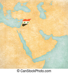 Map of Middle East - Syria