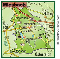 Map of miesenbach