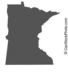 Map of Minnesota - USA - nonshaded