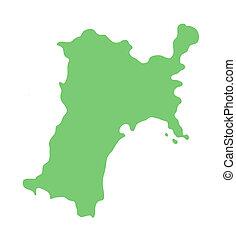 map of Miyagi prefecture, Japan