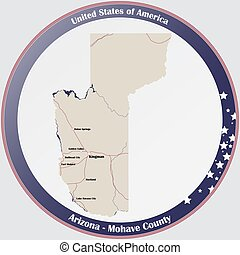 Map of Mohave County in Arizona