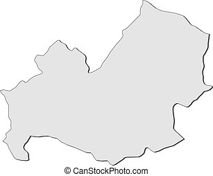 Map of molise italy Vector map of region molise with coat