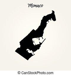 Map of Monaco. Vector illustration. World map
