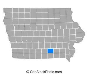 Map of Monroe in Iowa