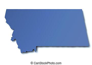 Map of Montana - USA