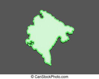 Map of Montenegro.