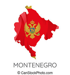 Map of Montenegro - Map Of Montenegro With Flag As Texture...