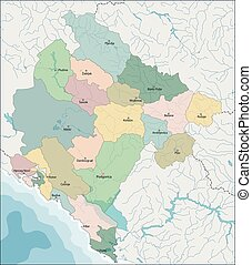 Map of Montenegro - Montenegro is a sovereign state in...