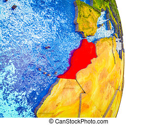 Map of Morocco on 3D Earth