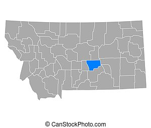 Map of Musselshell in Montana
