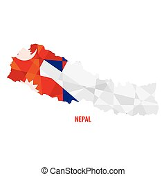 Map of Nepal Vector Illustration