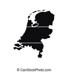 Map of Netherlands icon, simple style