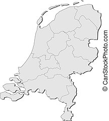 Map of Netherlands - Political map of Netherlands with the...