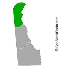 Map of New Castle in Delaware