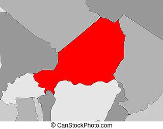 Map zinder niger 3dillustration Map of zinder a drawing