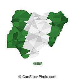 Map of Nigeria.