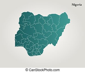 Nigeria political map Political map of nigeria with capital eps