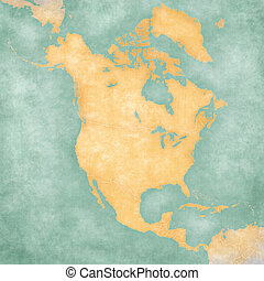 Map of North America - Blank Map - Blank outline map of...