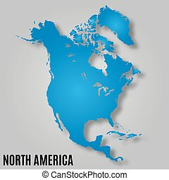 map of north america continent vector illustration