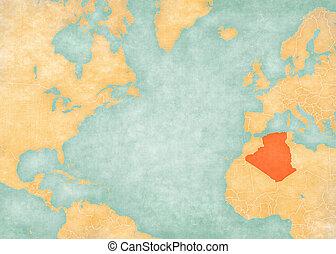 Map of North Atlantic Ocean - Algeria