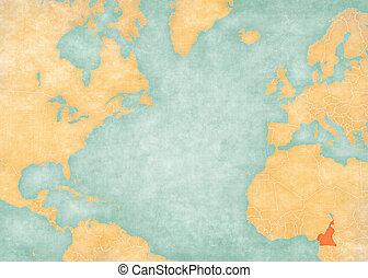 Map of North Atlantic Ocean - Cameroon