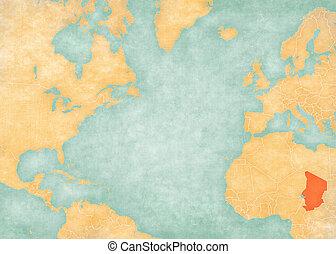 Map of North Atlantic Ocean - Chad