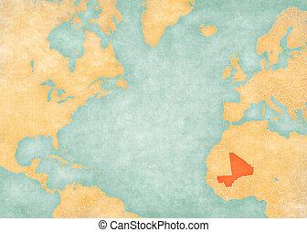 Map of North Atlantic Ocean - Mali