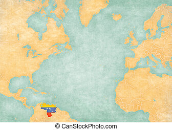 Map of North Atlantic - Venezuela