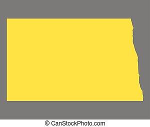 Map of North Dakota