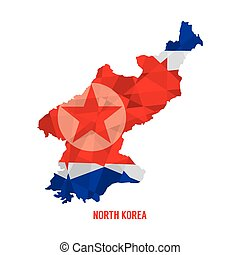 Map of North Korea.