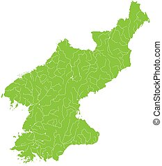 Map of North Korea - Large and detailed map of North Korea...