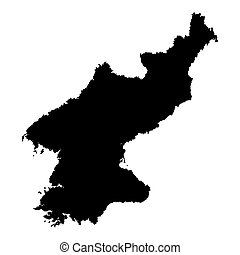 Map of North Korea outline.