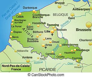 Map of nord pas de calais Vector Clipart Royalty Free 38 Map of