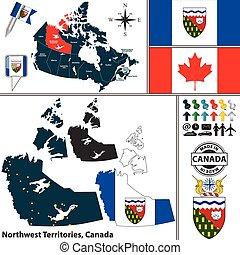 Map of Northwest Territories, Canada