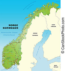 EPS Vectors Of Map Oslo Norway Map Of Oslo A Province Of - Norway map eps