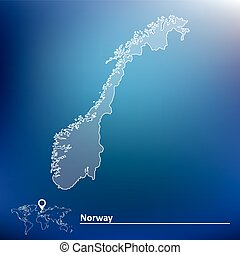 Map of Norway - vector illustration