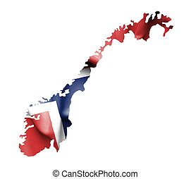 Norway Map Waving Flag Images And Stock Photos Norway Map - Norway map and flag