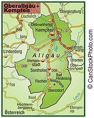Map of Oberallgaeu