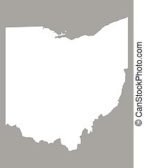 Map of state ohio, usa. Vector set of ohio state with roads map ...