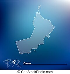 Map of oman Vector map of oman with regions coat of arms