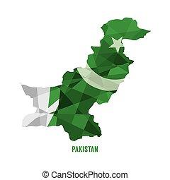 Map of Pakistan.
