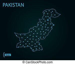 Map of Pakistan. Vector illustration. World map