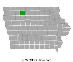 Map of Palo Alto in Iowa