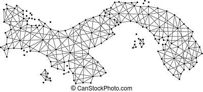 Black Outline Of Panama Map Eps Vectors Search Clip Art - Panama map vector