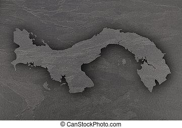 Map of Panama on dark slate