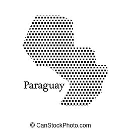 map of Paraguay,dot