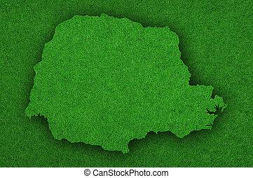 Map of Parana on green felt